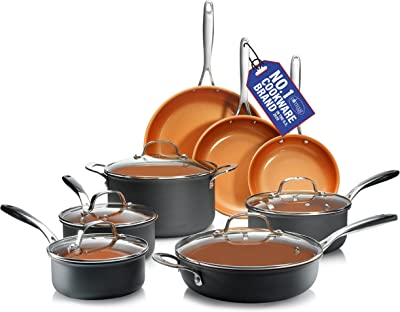 GOTHAM STEEL Pro Hard Anodized Pots and Pans - Best Eco Friendly Pots and Pans