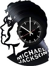 MICHAEL JACKSON Vinyl Record Wall Clock | Cool Gift Idea for Music Lovers | Nice Room Decor | Billie Jean | Smooth Criminal