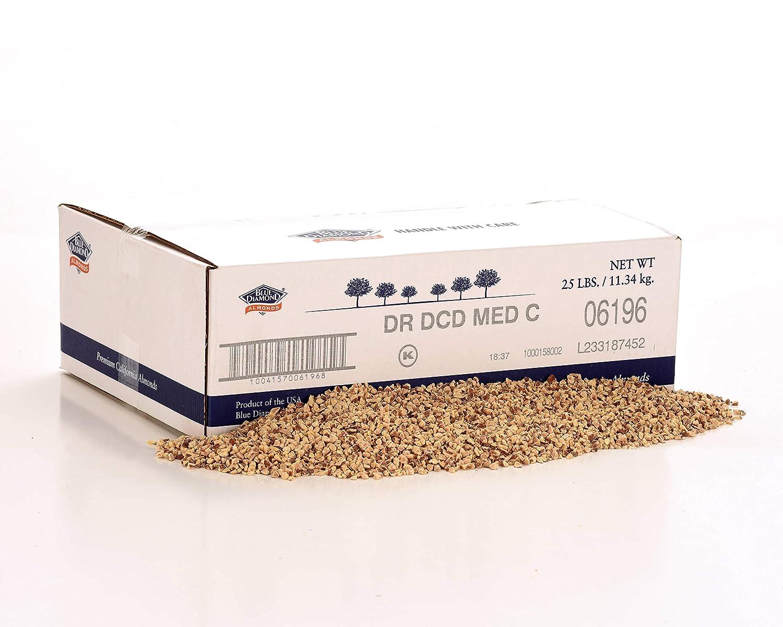 Almonds Chopped Dry National uniform 2021 free shipping Roasted No 25 Case Bulk Salt Lb