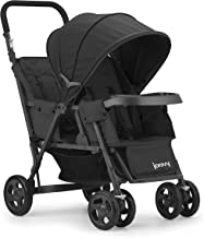 sit and stand stroller folded up