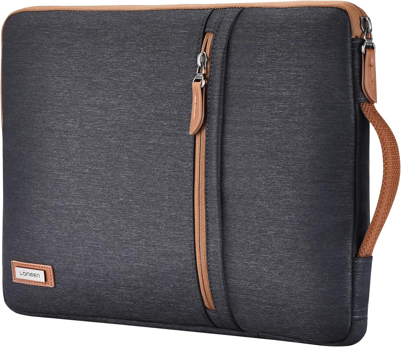 LONMEN 15.6 inch Laptop Sleeve Case Water-Resistant Notebook Handle Bag for Flex 4/Yoga 720/Ideapad 330 321S Laptop/ThinkPad P1/HP Envy x360 15/ASUS ROG Zephyrus S/Dell Latitude 3590