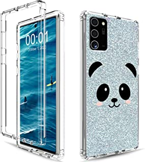 Galaxy Note 20 Ultra Phone Case Clear Shockproof High Impact Hard PC & Soft Silicone TPU 2in1 Dual Layer Protective Phone ...