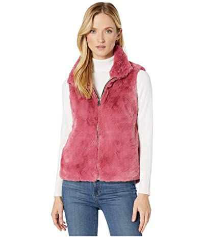 Dylan by True Grit Ultra Lux and Plush Shearling Faux Fur Vest (True Pink) Women