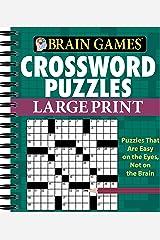 Brain Games® Crossword Puzzles - Large Print (Green) Spiral-bound