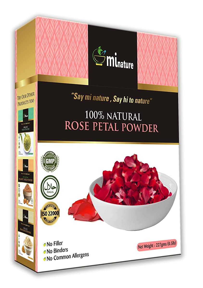 Rose Petal Powder - Hair & Skincare-Pure Natural Rejuvenating Moisturising Antiageing Cooling Face Mask Skin Lightener Brightener Even Tone Complexion - 227g / 1/2 lbs / 8 oz
