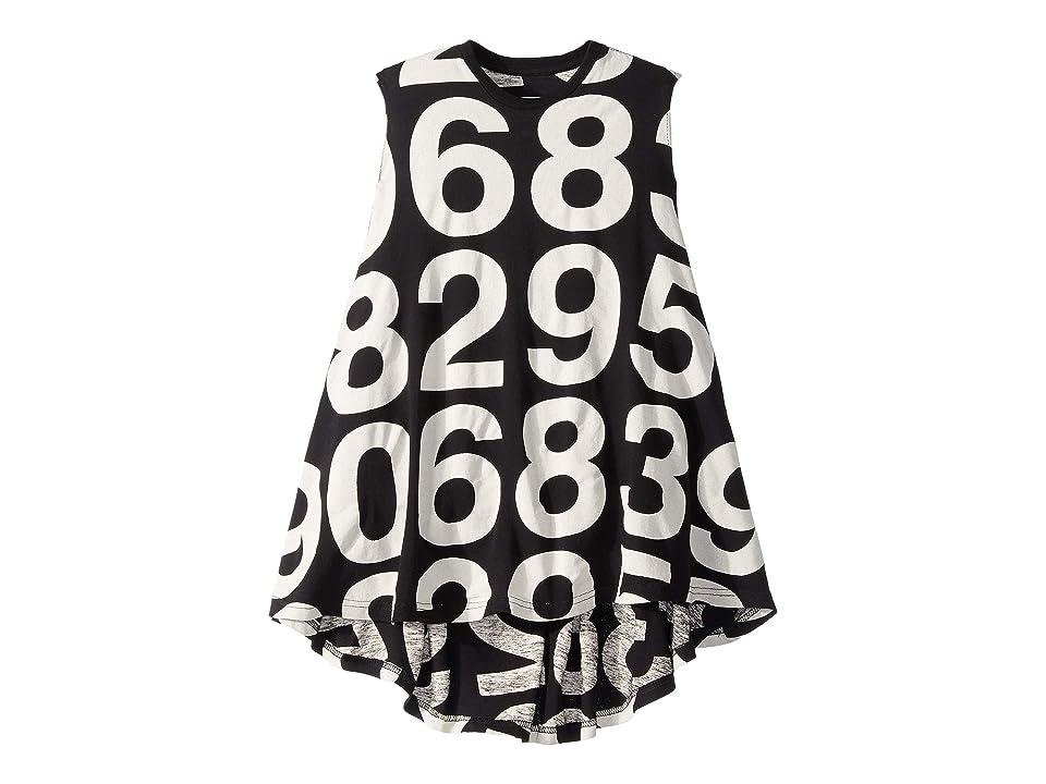 Nununu Numbered 360 Dress (Toddler/Little Kids) (Black) Girl