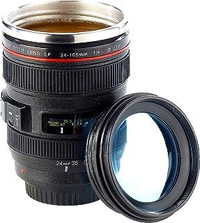 Somikon Objektiv Tasse: Kameraobjektiv-Becher, doppelwandig,
