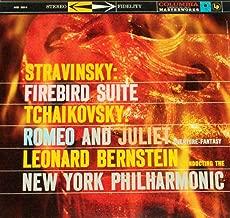 STRAVINSKY Firebird Suite TCHAIKOVSKY Romeo and Juliet LP Bernstein NYP Columbia MS 6014 stereo 360 sound NM [Vinyl] Igor Stravinsky; Tchaikovsky; Leonard Bernstein and New York Philharmonic