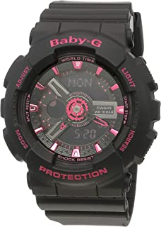 Casio Baby G Women BA111-1A Year-Round Analog-Digital Automatic Black Watch