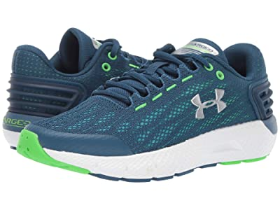 Under Armour Kids UA BGS Charged Rogue (Big Kid) (Petrol Blue/White/Metallic Silver) Boys Shoes
