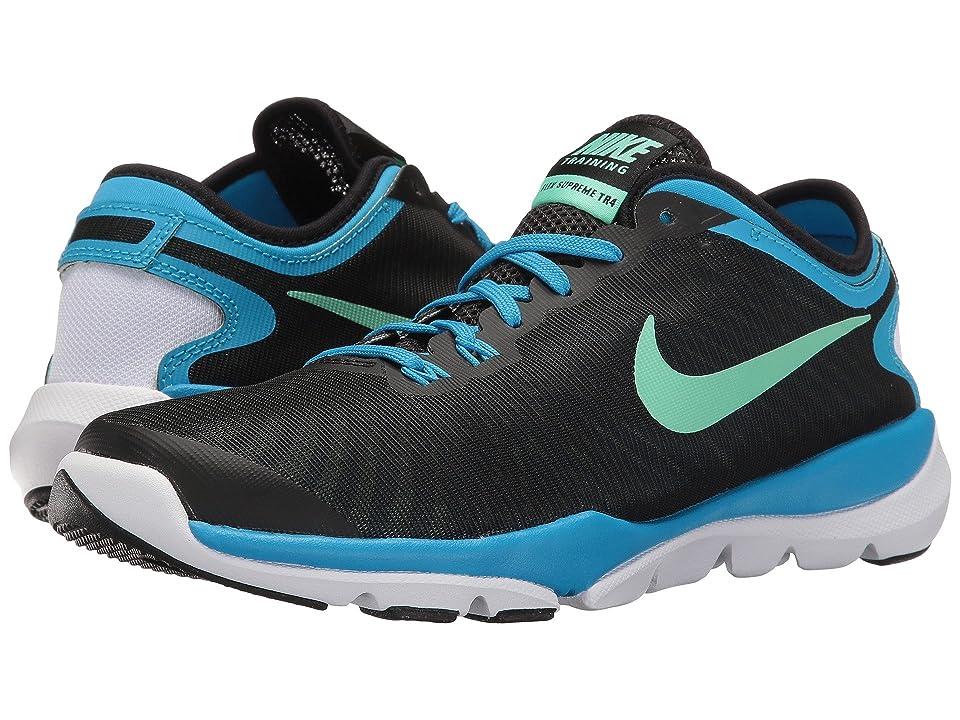 Nike Flex Supreme TR4 (Black/Green Glow/Blue Glow/White) Women