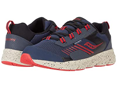Saucony Kids S-Wind Shield (Little Kid/Big Kid) (Navy/Red) Boys Shoes
