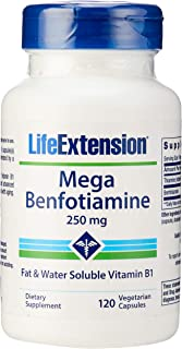 Life Extension Mega Benfotiamine 250 mg, 120 Vegetarian Capsules