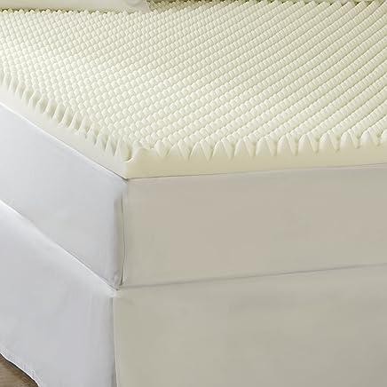 Sleep Comfort 10085-00031-AZ 2 High Loft Eco Memory Foam Toppers,  Twin,  Beige