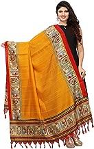 Kanchnar Women's Black and Red and Biege BhagalpuriDupatta Scarf Stole Wrap