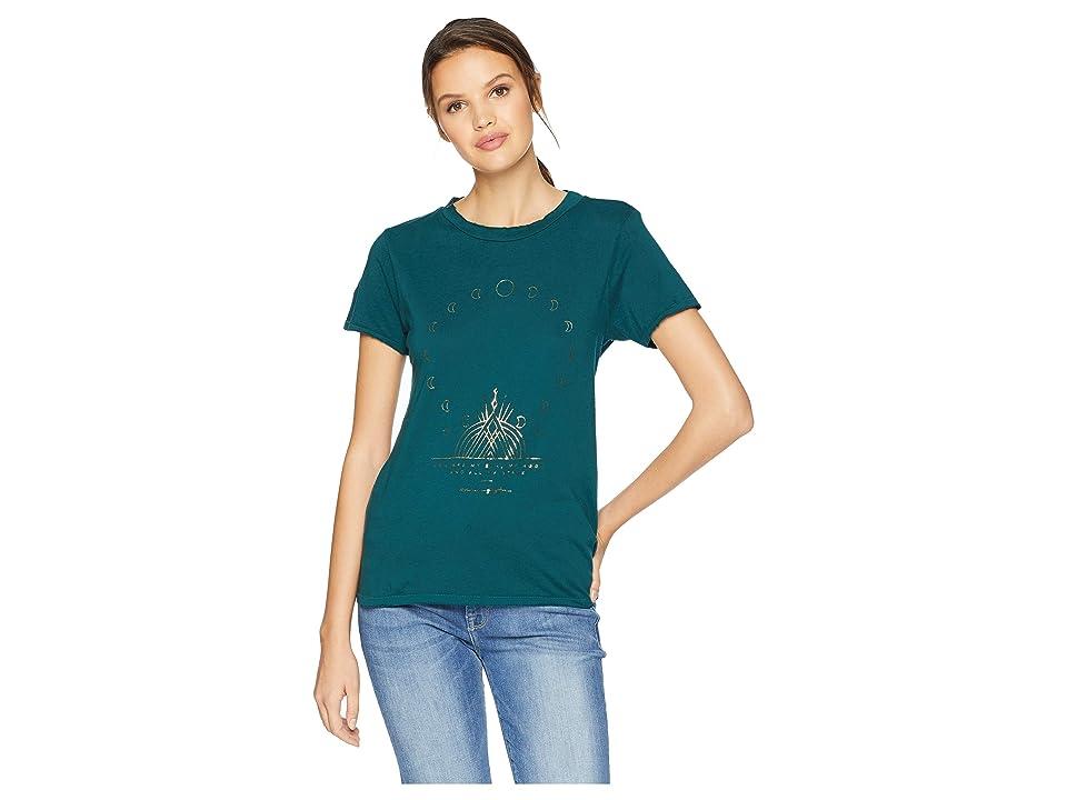 Spiritual Gangster Moon Boxy Crew T-Shirt (Deep Spruce) Women's T Shirt