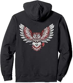 The Gifting Owl Flight Wings Rose Flower Bird Phoenix Pullover Hoodie