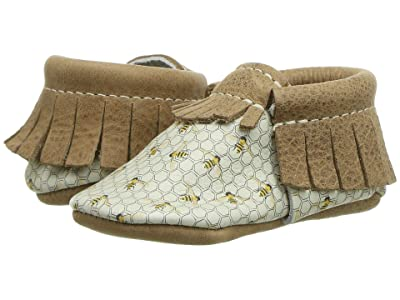 Freshly Picked Save the Bees Moccasin (Infant/Toddler) (Brown/Yellow) Kid