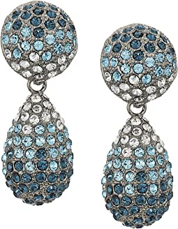 Medium Teardrop Pave Swarovski Stones Earrings