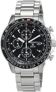 Seiko Men`s SSC009 Solar Chronograph Silver Dial Flight Watch