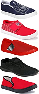 WORLD WEAR FOOTWEAR Sports Running Shoes/Casual/Sneakers/Loafers Shoes for Men Multicolor (Combo-(5)-1219-1221-1140-461-782)