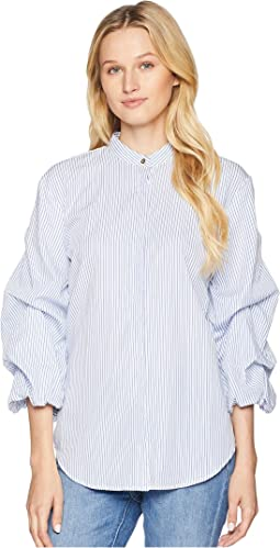 Cotton Puff-Sleeve Shirt