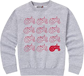 Red Tractor Pattern - Toddler Crew Fleece