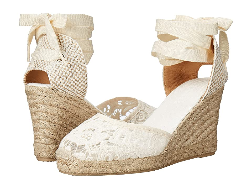 Soludos Tall Wedge (Ivory Cotton Lace) Women