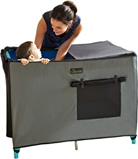 SnoozeShade for Travel Cots and Pack'n'Plays | Mesh blackout shade and cot canopy