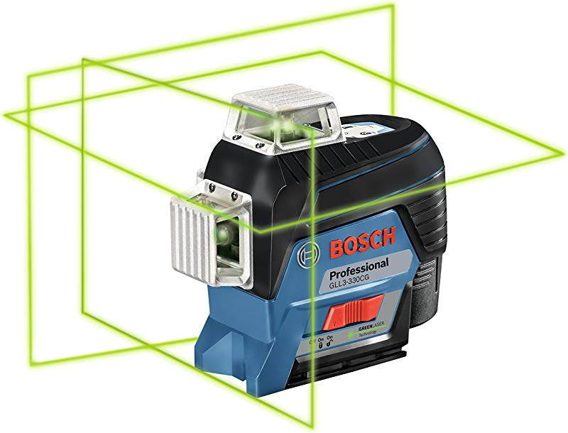 Bosch GLL3 330CG 360 Connected Green Beam Three Plane Leveling And Alignment Line Laser Bare Tool