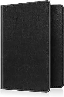 Passport Holder Travel Wallet RFID Blocking PU Leather Card Case Cover (B-Vintage Black)