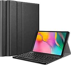 Fintie Tastatur Hülle für Samsung Galaxy Tab A 10.1 Zoll 2019 SM-T510/T515 Tablet-PC - Ultradünn leicht Schutzhülle mit magnetisch Abnehmbarer drahtloser Deutscher Bluetooth Tastatur, Schwarz