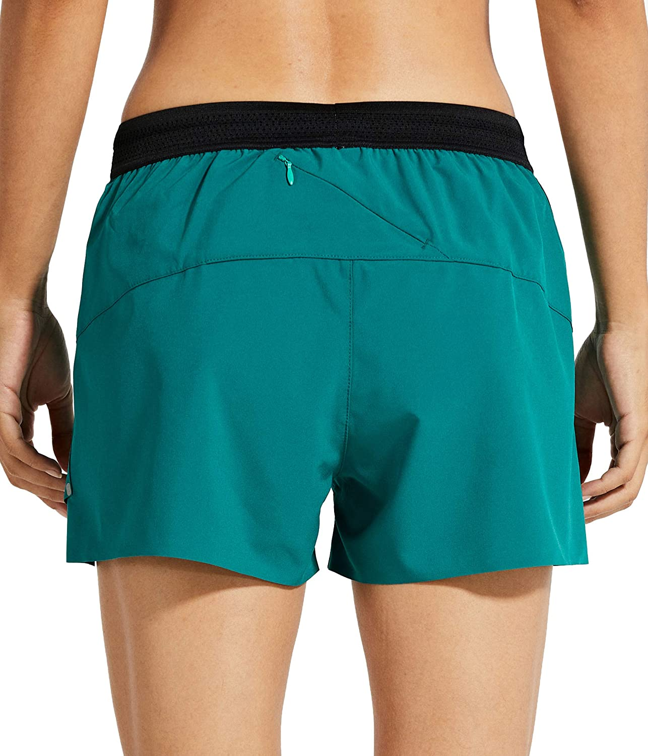 Libin Womens 3 Inch Running Shorts with Liner Quick Dry Athletic Workout Shorts Lounge Sport Gym Shorts Back Zip Pocket