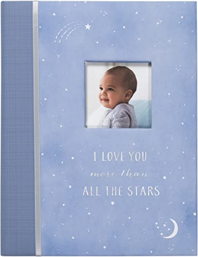 Carter's B2-16232 Blue All The Stars Gender Neutral Baby Memory Book for Newborns, 60 Pages