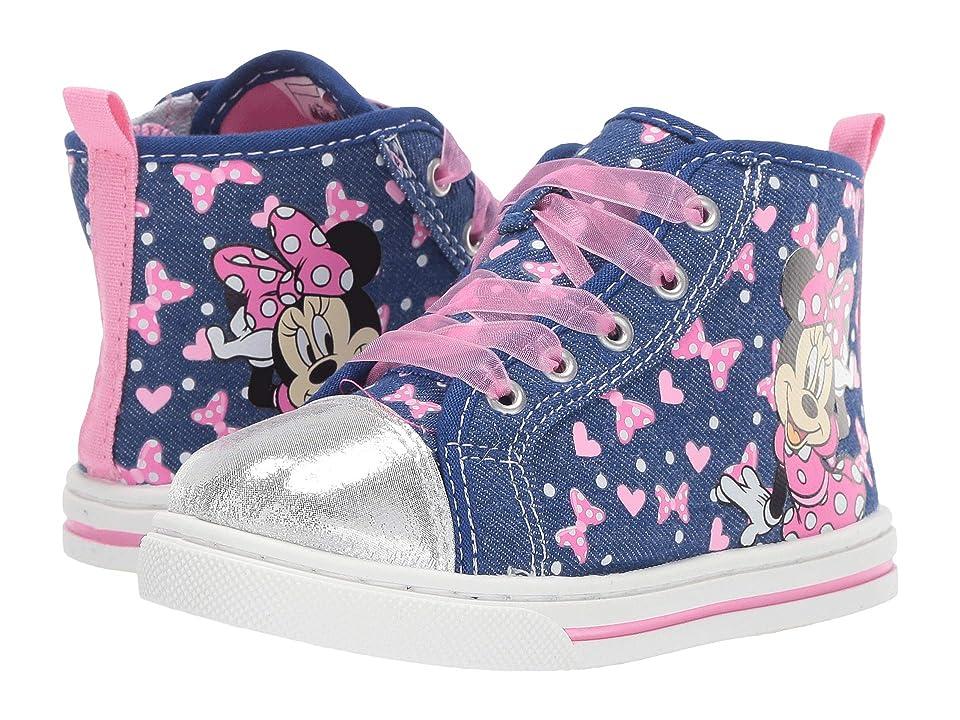Josmo Kids Minnie Sheer Lace Sneaker (Toddler/Little Kid) (Blue) Girl