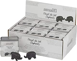 Amalfi EMDE 07 S/2 Forget Me Not Elephants, Black