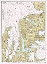 Map - Grand Traverse Bay To Little Traverse Bay, 1991 Nautical NOAA Chart - Michigan (MI) - Vintage Wall Art - 44in x 59in