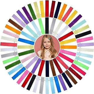 100 Pieces Baby Hair Clips Grosgrain Ribbon Hair Pins Colorful Alligator Clip Hair Barrettes 2 Inch DIY Hairpin Accessorie...