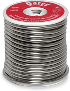 Oatey 29025 Safe-Flo Wire Solder, 1 Lb Bulk, Solid, Gray, Silver