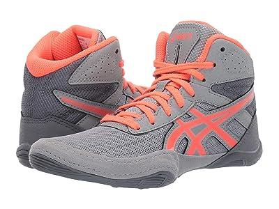 ASICS Kids Matflex 6 (Toddler/Little Kid/Big Kid) (Stone Grey/Flash Coral) Kids Shoes