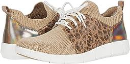Beige/Gold Knit/Gold Leopard