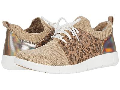 Johnston & Murphy Tamara (Beige/Gold Knit/Gold Leopard) Women