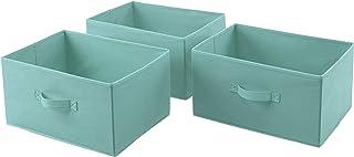 AmazonBasics Cajones de repuesto para unidad de almacenamiento de tela con 5 cajones, verde menta