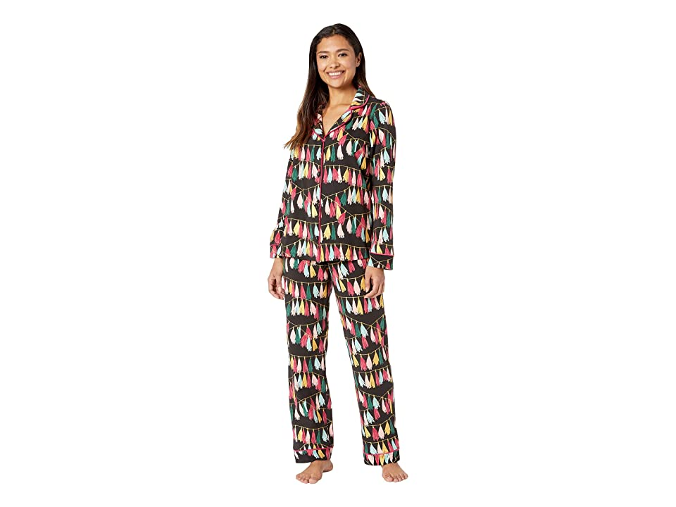 BedHead Long Sleeve Classic Notch Collar Pajama Set (Festive Fringe) Women