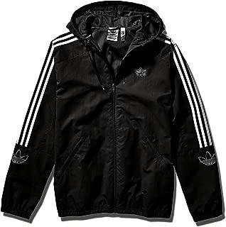 Men's Outline Trefoil Windbreaker Jacket