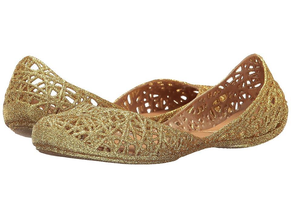 Melissa Shoes Melissa Campana Zig Zag (Gold Glitter) Women