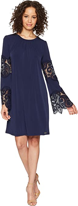 Lace Inset Shirtdress
