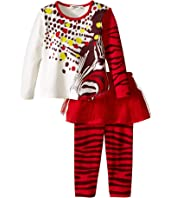 Junior Gaultier - Two-Piece Set with Printed Tee and Leggings with Tulle (Infant)
