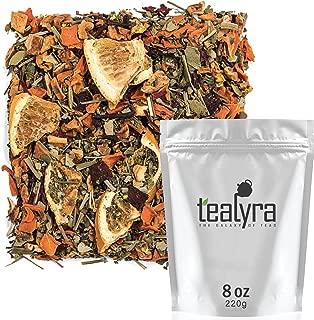 Tealyra - Orange Lemonade - Hibiscus - Eucalyptus - Lemongrass - Herbal Fruity Loose Leaf Tea Blend - Vitamins Rich - Boost Immune System- 100% Natural – Hot and Iced - Caffeine-Free - 220g (8-ounce)