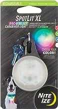 مصباح LED LED قابل للشحن من نايت ايزي سبوتلايت مقاس XL مع اختيار دائرية، ضوء سلسلة مفاتيح متغير اللون
